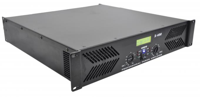 Professional High Power Amplifier 2 channel 2U 400W X Series X-400 , DJ Amplifier