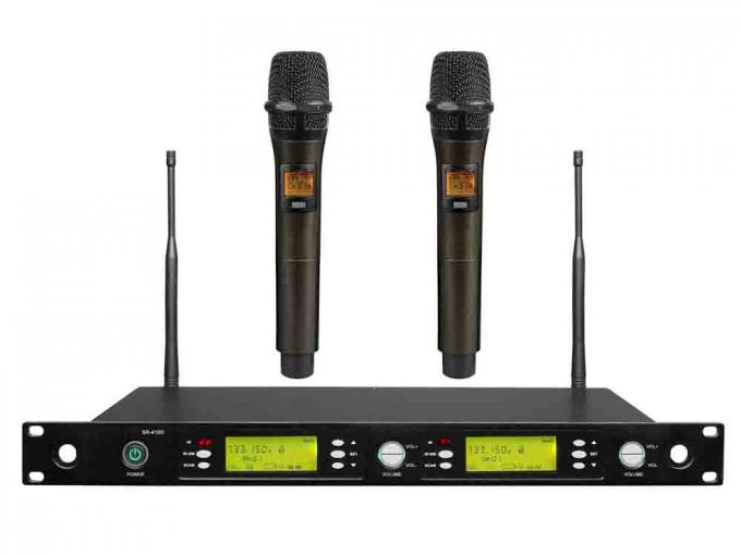 Performance Wireless Microphone System SR-410D LED screen alarm automatically