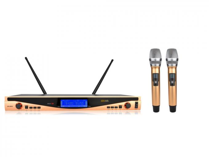 Colorful Dual channel Wireless Microphone System All Metal SR-880S