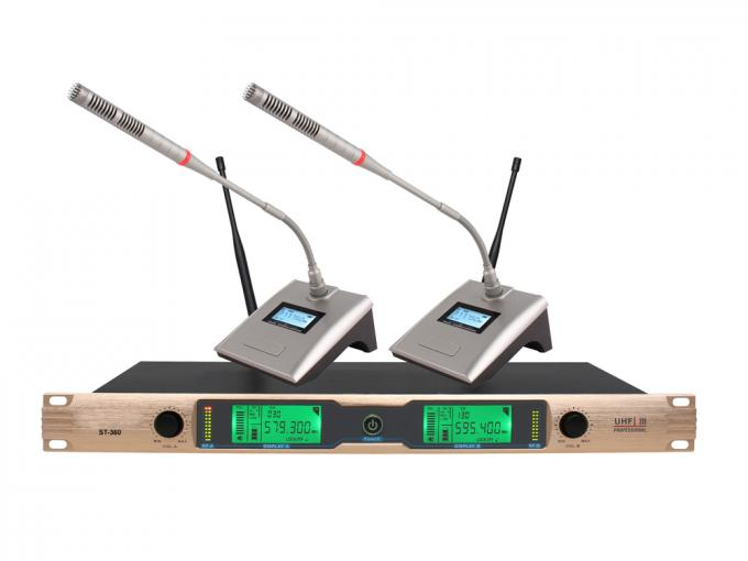 Dual Channel UHF Wireless Microphone System for KTV and recreation room  All Metal ST-360