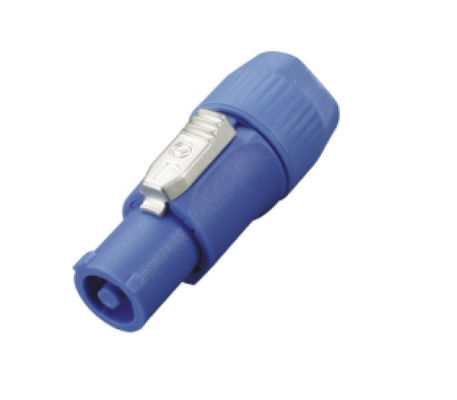 China 20A 250V Powercon Connector for LED Device / 3P Male Blue connector DD3042 supplier