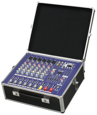 China Sturdy Portable Professional Audio Mixer With Fightcase PM600USB supplier