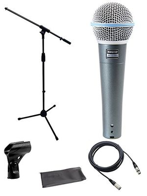 Shure Beta 58a Microphone Bundle Stage Stand With XLR Cable DMS003-KIT