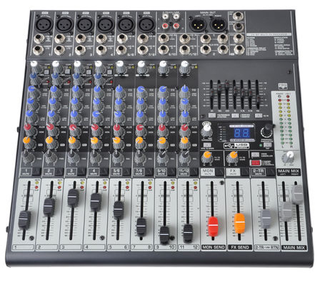 China 12 Channel Professional Audio Mixer  Audio Stage Mixing Console  X1222USB distributor
