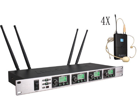China One with four Wireless Meeting Room Microphone System Adopt CPU Control SR-6004 factory