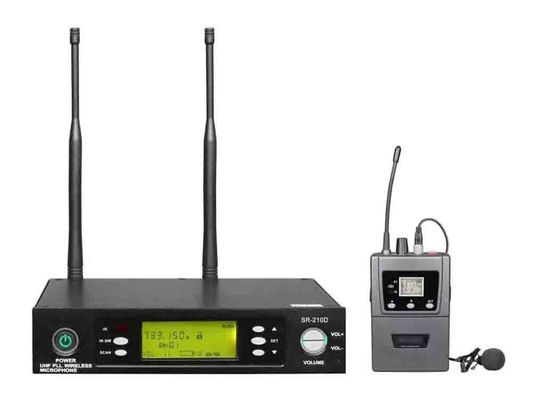 China Performance Single channel Wireless Microphone System 40Hz - 18KHz SR-210D factory