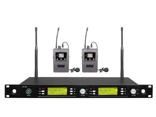China Performance Wireless Microphone System SR-410D LED screen alarm automatically distributor