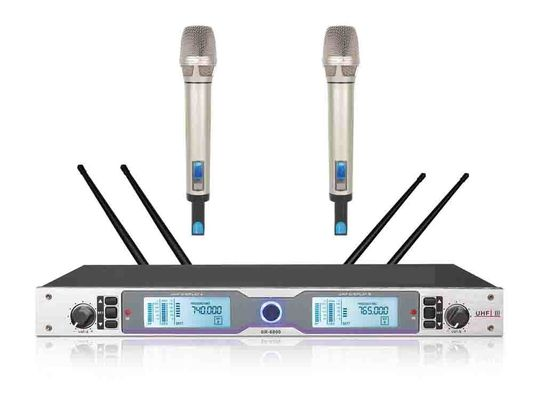 China RHOS /  UL 2 Channel Wireless Microphone System For Meetings SR-6800 factory