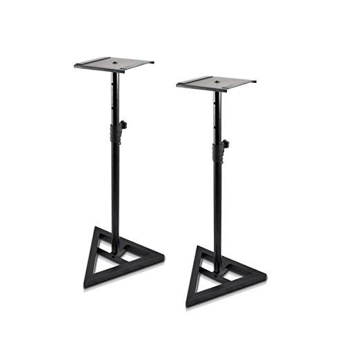 Studio Monitor Speaker Stand Height Adjustable Pair DGS001 960mm -1300mm Height